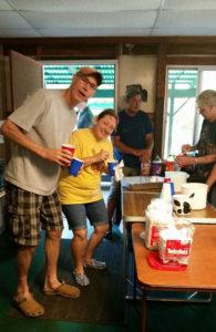 root beer float fun at Holiday Camping in New Era MI